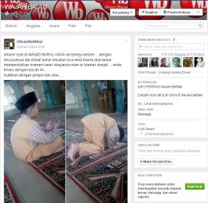 Sabtu 2 Maret 2016 Raihan berdoa di Masjid Nurul Huda