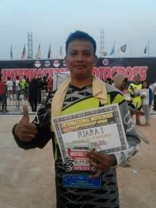 Bripka M Ali atlet motor cross dari Polsek Batuaji.